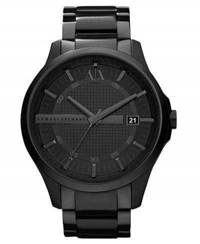 Armani Exchange - Black Stainless Steel Watch
