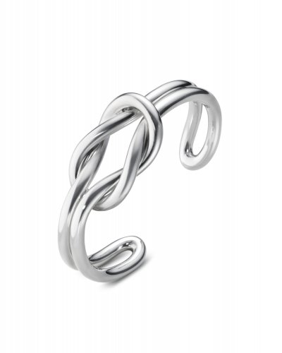 Georg Jensen - Love Knot, Sterling Silver - - Love Knot double Bangle, Size L