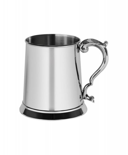 Harrison Brothers Stainless Steel Glass Tankard, Size One Pint