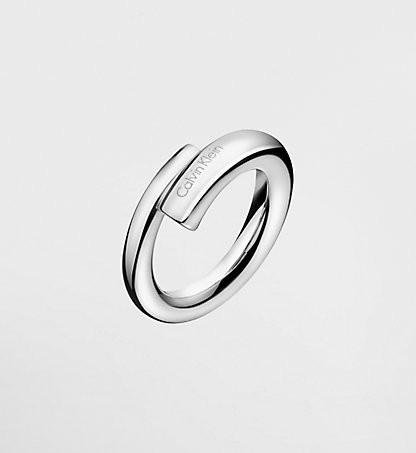 Calvin Klein - Stainless Steel Ring, Size N
