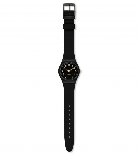 Swatch - Ladies' Golden Tac, Plastic and Silicone Watch