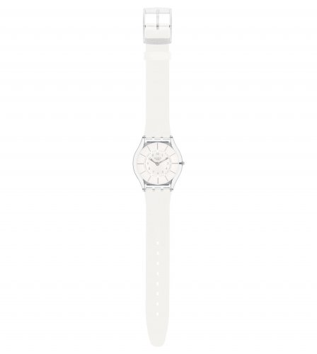 Swatch - White Classiness, Plastic and Silicone Watch
