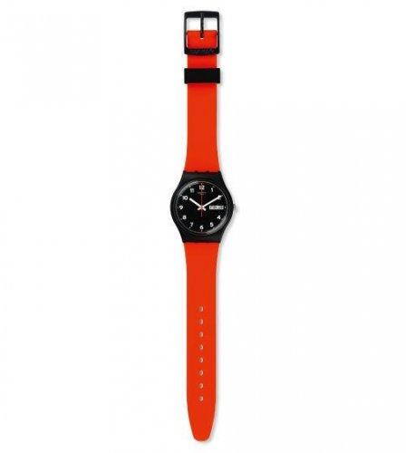 Swatch - Red Grin, Red Strap with Black Dial Watch