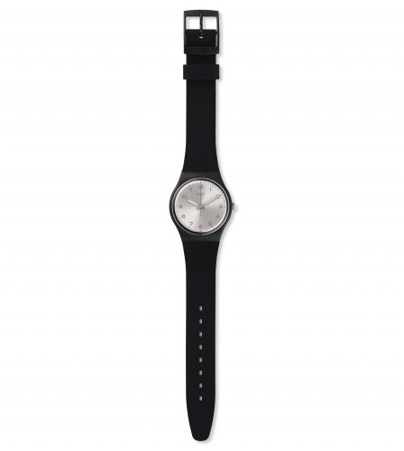 Swatch - Silver Friend Too, Black / Silver, Silicone Unisex Watch
