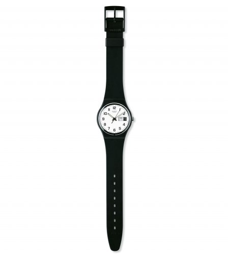 Swatch - Once Again, Black Plastic Watch
