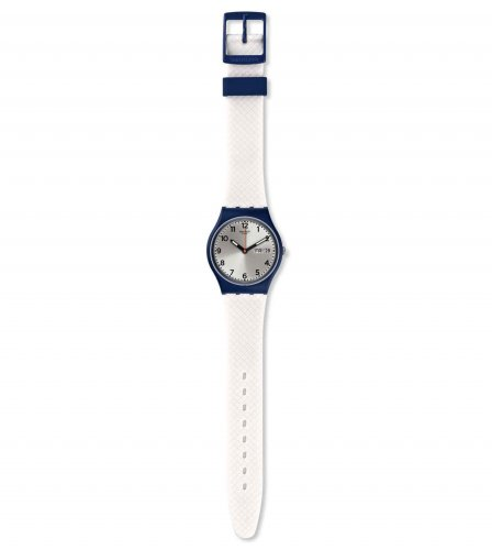 Swatch - White Delight, Plastic and Silicone Watch
