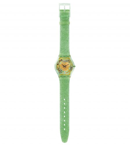 Swatch - Verdor, Sparkle Green Skinless Strap Watch