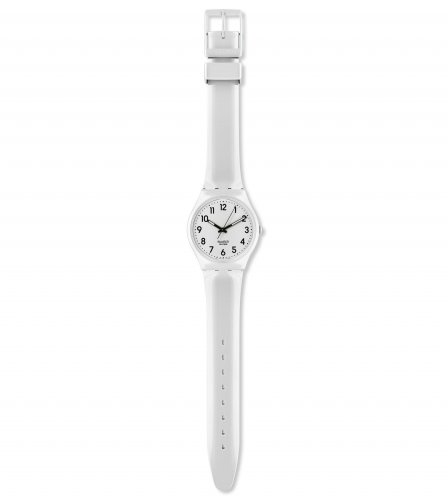 Swatch - Ladies' Just White Soft, Plastic and Silicone Watch