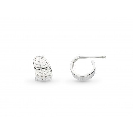 Kit Heath - St Blossom Eden, Sterling Silver Mini Wrapped Leaf Stud