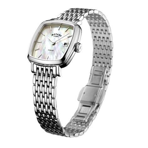 Rotary - Ladies Stainless Steel Windsor Cushion Watch