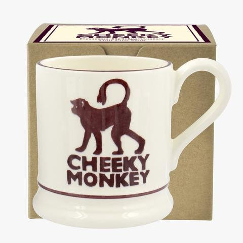 Emma Bridgewater - Cheeky Monkey, Ceramic Half Pint Mug