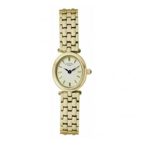 Rotary - Ladies Champagne Dial Gold Plated Watch