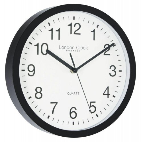 London Clock - Simple Black Wall Clock