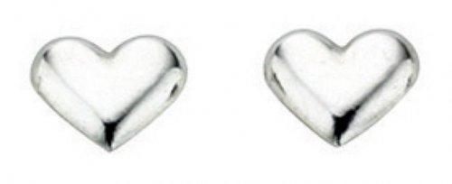 Gecko - Sterling Silver Heart Stud Earrings