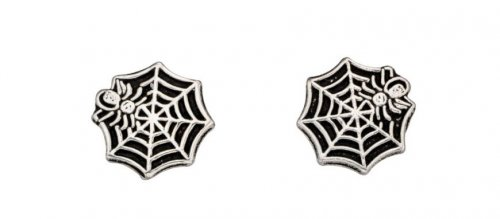 Gecko - Sterling Silver Spiders Web