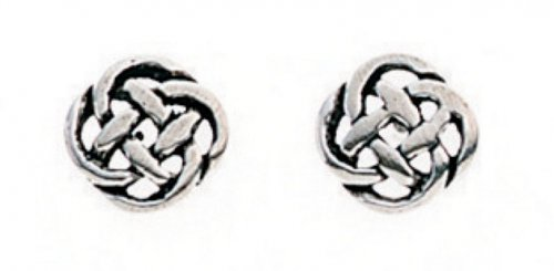 Gecko - Ladies , Silver Celtic Design Stud Earring