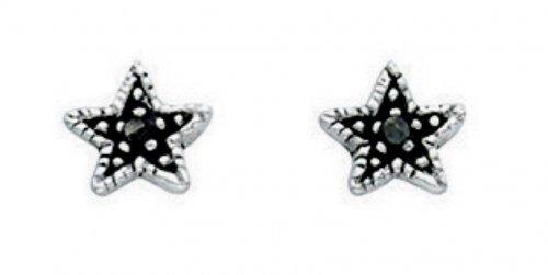 Gecko - Sterling Silver Star Stud Earrings