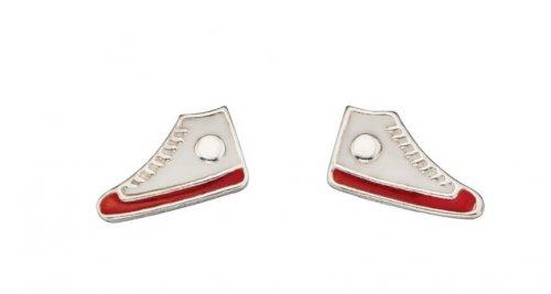 Gecko - Beginnings, Silver Sneaker Earrings