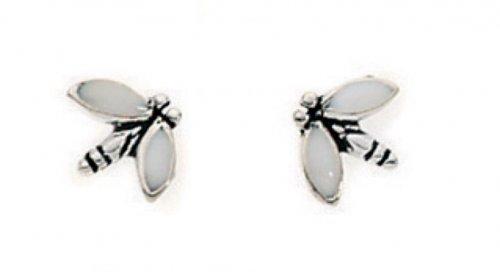 Gecko - Beginnings, Silver Dragonfly Earrings