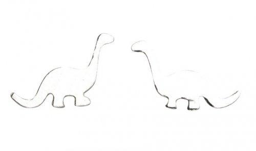 Gecko - Beginnings, Silver Dinosaur Earrings