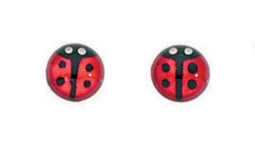 Gecko - Beginnings, Silver Ladybird Earrings
