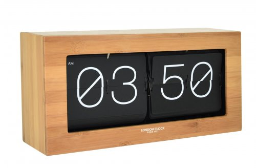 London Clock - Wooden Flip Mantel Clock