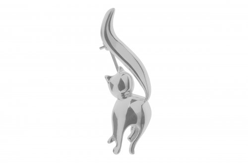 Tianguis Jackson - Sterling Silver Cat Brooch