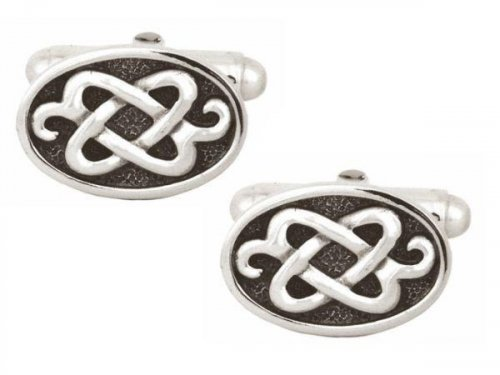 Dalaco - Sterling Silver Set, Celtic Cufflinks