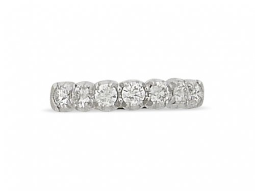 Guest and Philips - Diamond 0.54ct Set, Yellow Gold - White Gold - Half Eternity Ring 18ct, Size K
