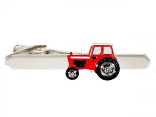 Dalaco - Red Tractor Rhodium Plated Tie Clip