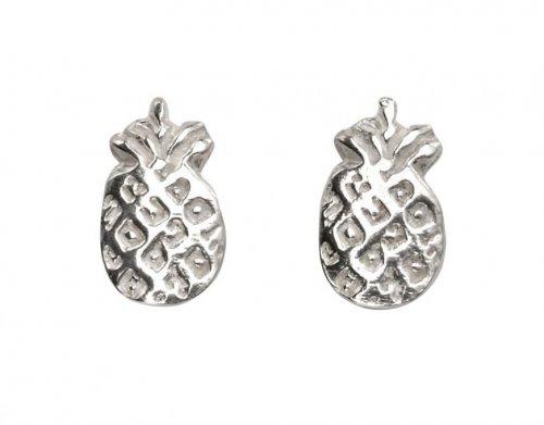 Gecko - Sterling Silver Pineapple Stud Earrings