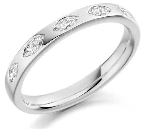 Marquise Cut Diamond Half Eternity Ring