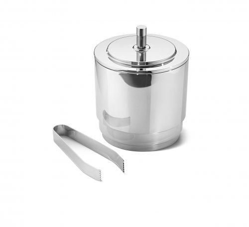 Georg Jensen - Manhattan, Stainless Steel Ice Bucket With Tongues Homeware