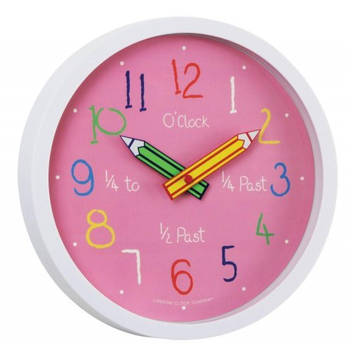 London Clock - Pink Colouring Box Wall Clock