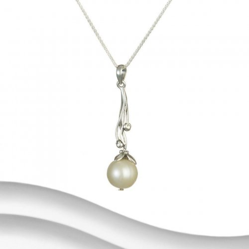 Banyan - Pearl Set, Sterling Silver Ornate Necklace