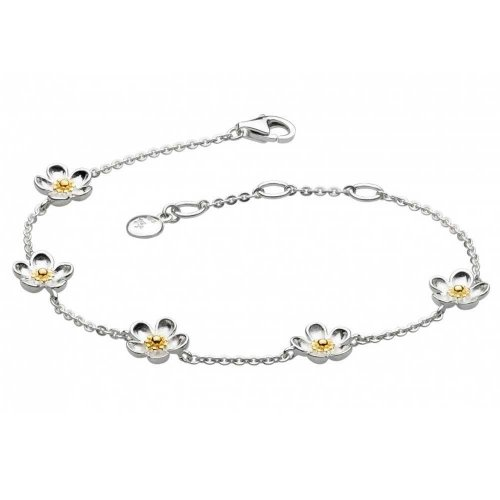 Kit Heath - Wood Rose, Sterling Silver Daisy Chain Bracelet