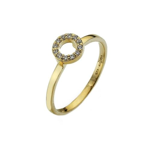 Virtue - Cubic Zirconia Set, Yellow Gold Plated Ring