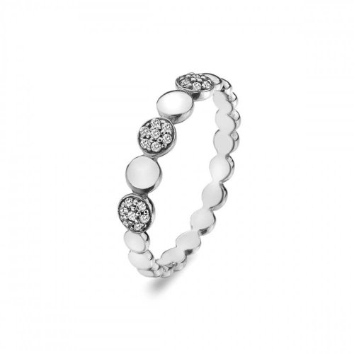 Virtue - Cubic Zirconia Set, Sterling Silver Pebbles Ring