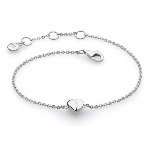 Kit Heath - Miniature, Sweet Heart, Sterling Silver Bracelet