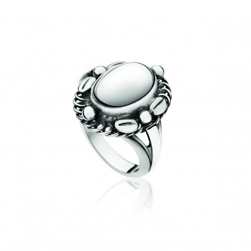 Georg Jensen - Moonlight Blossom, Sterling Silver Ring, Size O