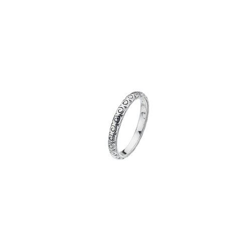 Virtue - Swirl, Sterling Silver Ring, Size J