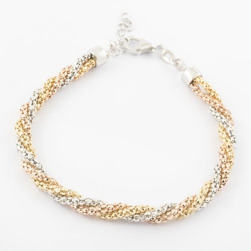 Virtue - Sterling Silver, Rose, Yellow Gold Plated Bracelet