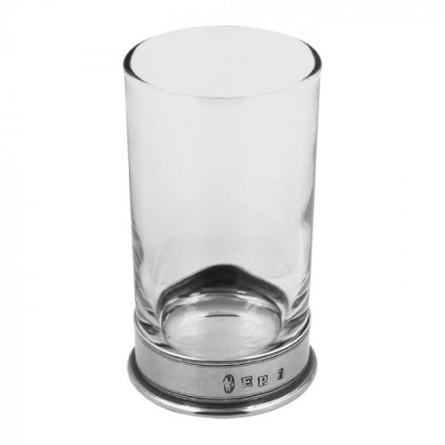 English Pewter Company - Pewter/Glass Hiball Single Glass