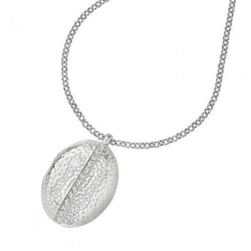 Dower and Hall - Lumiere, White Sapphire Set, Sterling Silver - - Locket