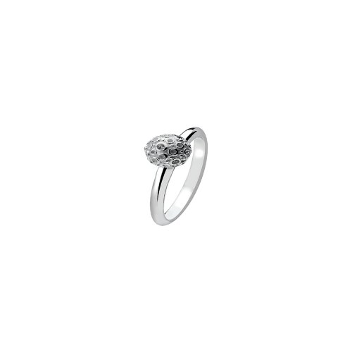 Virtue - Planet Cry, Cubic Zirconia Set, Sterling Silver Ring, Size N