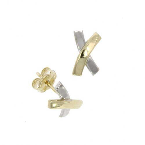 Guest and Philips - Yellow Gold 9ct Bi metal Earrings