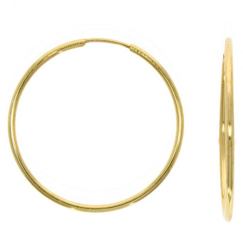 Guest and Philips - Yellow Gold 9ct Hoop Earrings