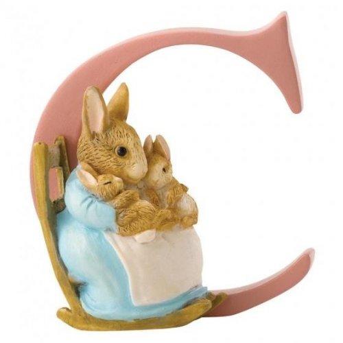 Enesco - Mrs. Rabbit, Alphabet, Initial C Figurine