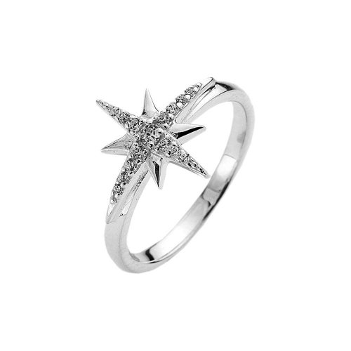 Virtue - Cubic Zirconia Set, Sterling Silver Star Ring