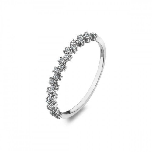 Virtue - Cubic Zirconia Set, Sterling Silver Star Dust Ring